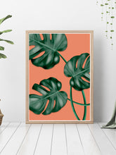 Load image into Gallery viewer, Gorgeous house plant print on a bedroom floor.