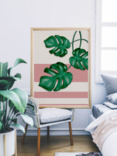 Load image into Gallery viewer, Gorgeous Monstera Deliciosa Art in a lovely bedroom