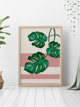 Load image into Gallery viewer, Pink Monstera Deliciosa Print in a stunning modern interior