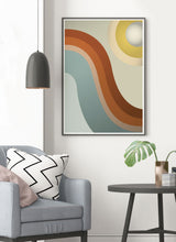 Load image into Gallery viewer, Moon Walk Retro Art Print in trendy room interior