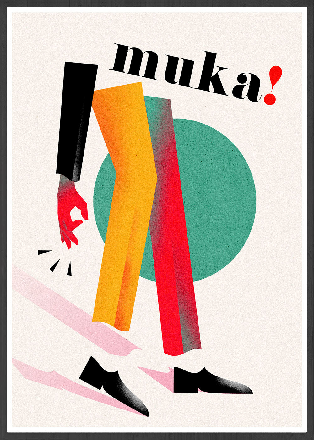 Muka Contemporary Art Print in frame