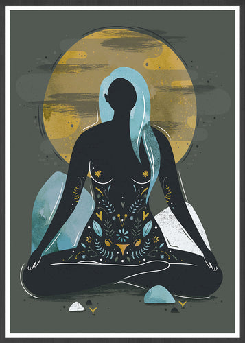 My Body Is a Temple Illustration Print