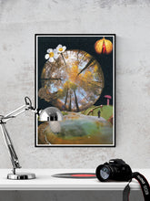 Load image into Gallery viewer, Natures Way Surreal Collage in a frame on a wall