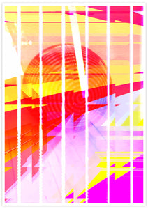 Neu Wave Abstract Sunset Print no frame