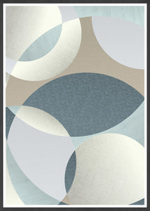 Neutral Swirls Circle Pattern Print in a frame