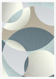 Neutral Swirls Circle Pattern Print no frame