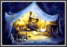 Load image into Gallery viewer, Night Time Stories Kids Wall Art in a frame
