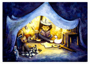 Night Time Stories Kids Wall Art not in a frame