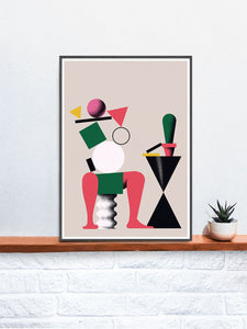 Nogi Contemporary Print on a shelf