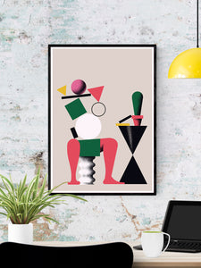 Nogi Contemporary Print on a wall