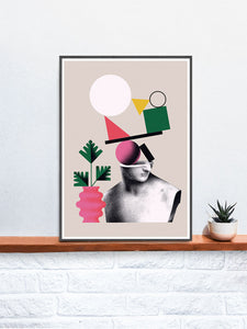 Nogi 3 Contemporary Art Print on a shelf