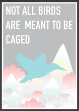 Load image into Gallery viewer, Caged Bird Art Print in a frame