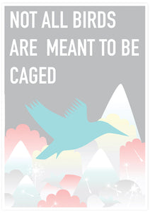 Caged Bird Art Print not in a frame
