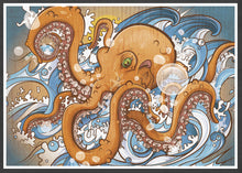 Load image into Gallery viewer, Octopus Sea Creature Print in a frame