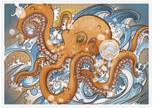 Load image into Gallery viewer, Octopus Sea Creature Print no frame