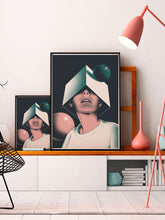 Load image into Gallery viewer, Olcia Modern Illustration Print 2 sizes on a shelf