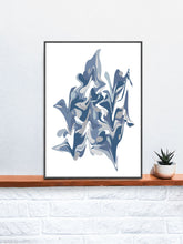 Load image into Gallery viewer, Ondulation 1 Abstract Art Poster in a frame on a shelf