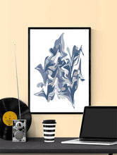 Load image into Gallery viewer, Ondulation 1 Abstract Art Poster in a frame on a wall