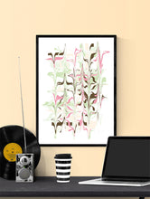 Load image into Gallery viewer, Ondulation 2 Abstract Art Poster in a frame on a wall