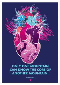 Only One Mountain Illustration Print not in a frame