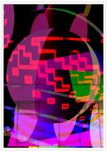 Load image into Gallery viewer, Orbitek Glitch Art Poster in no frame