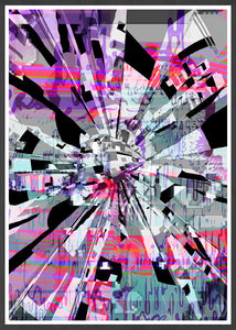 Out of Tune Glitch Artwork Print no frame