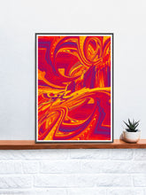 Load image into Gallery viewer, Paint Wave Glitch Art Print on a shelf