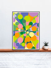 Load image into Gallery viewer, Palladium 2 Abstract Pop Print on a Shelf