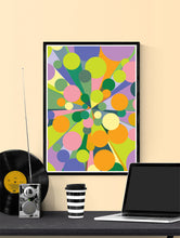 Load image into Gallery viewer, Palladium 2 Abstract Pop Print in a frame on a wall