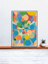 Load image into Gallery viewer, Palladium 3 Abstract Pop Art Print on a Shelf
