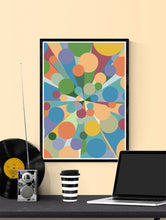 Load image into Gallery viewer, Palladium 3 Abstract Pop Art Print in a frame on a wall