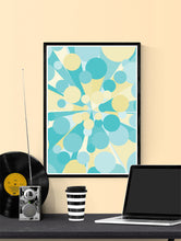 Load image into Gallery viewer, Palladium 4 Abstract Art Print in a frame on a wall