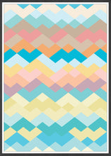 Load image into Gallery viewer, Pastel Beach Pastel Abstract Print in a frame