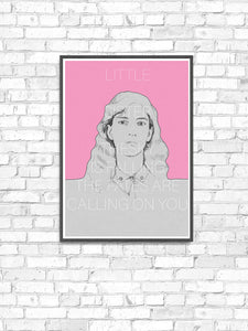 Patti Smith Contemporary Art Print in a frame on a wall