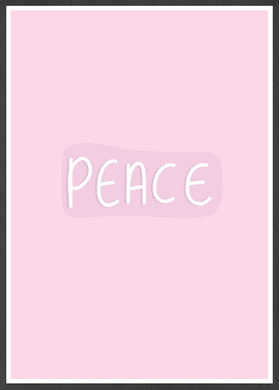Peace Wall Art Print in a frame