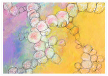 Load image into Gallery viewer, Peach Flowers Spiral Abstract Art