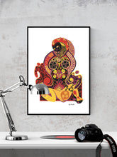 Load image into Gallery viewer, Pieta Digital Illustration Art Print in a frame on a wall