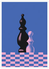 Load image into Gallery viewer, Piony Chess Piece Art Print no frame
