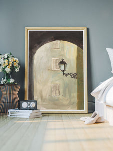Pisciotta Italy Fine Art Print in a modern bedroom