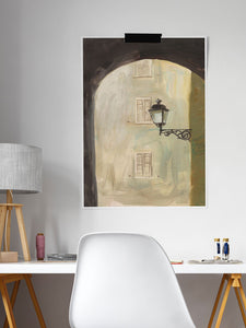 Pisciotta Italy Fine Art Print in a stylish desk area