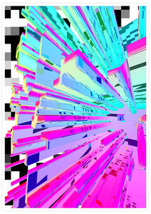 Pixel Crystal Glitch Wall Art not in a frame
