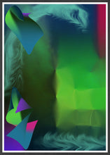 Load image into Gallery viewer, Pointed Point Green Abstract Art in a frame