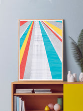 Load image into Gallery viewer, Pop Hole Colourful Geometric Art Print in a Contemporary Room