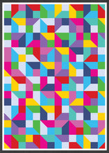 Load image into Gallery viewer, Popmetric Abstract Geometric Art Print in frame