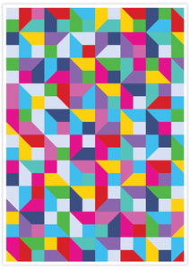 Popmetric Abstract Geometric Art Print no frame