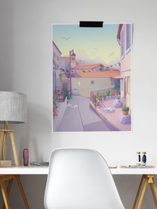 Porto Alley 2 Illustration Print