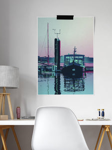 Foz Abstract Porto River View Poster