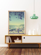 Load image into Gallery viewer, Virtudes Illustration Print in a mid century room