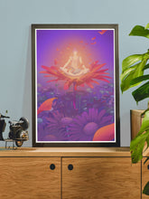 Load image into Gallery viewer, Quarantine Chill Sessions Wall Art on a side cabinet