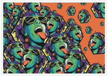 Load image into Gallery viewer, Rave Girl Orange Illustration Print no frame